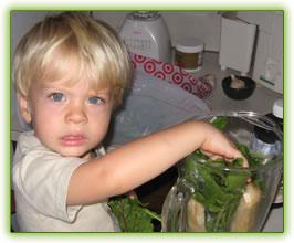 green smoothie kid