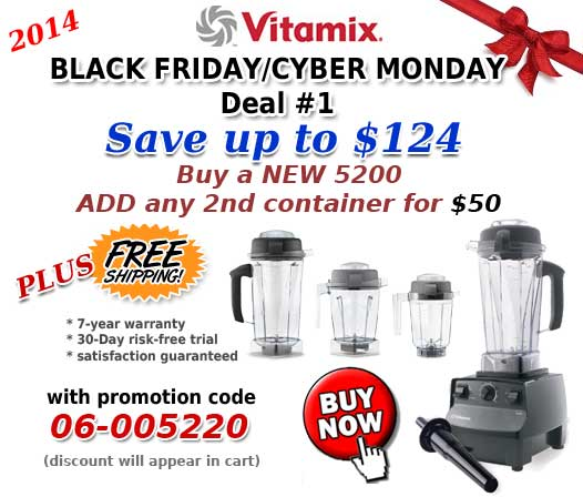 Vitamix Black Friday Cyber Monday 2014 Sale