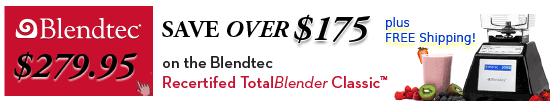 Blendtec Total Blender Sale