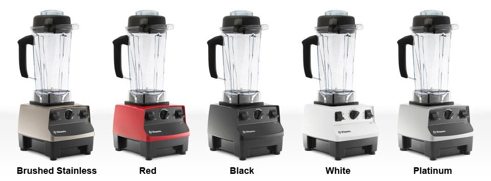 Vitamix Colors: Brushed Stainless, Red, Black, White, Platinum