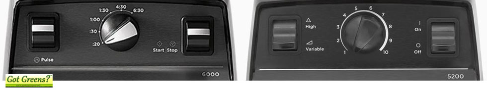 vitamix 6000 vs 5200 controls